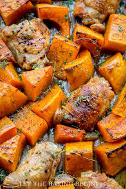 Rosemary Pan Chicken with Roasted Butternut Squash & Broccoli